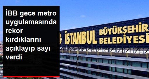 İstanbul'da iki gecede 50 bin kişi metro kullandı