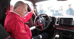 BMCnin yerli pikabını test eden Erdoğan ile yetkilinin diyaloğu güldürdü