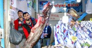 Samsunda sezonun en büyük yayın balığı yakalandı