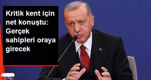 Son dakika: Esad Güçlerinin Münbiç'e gireceği iddialarına Cumhurbaşkanı Erdoğan'dan yanıt: Münbiç kararımızı uygulama aşamasındayız