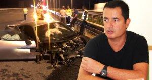 Trafik kazası geçiren Acun Ilıcalıdan dikkat çeken yorum: Adamlar iyi araba yapıyormuş