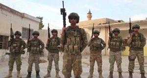 Asker selamı veren Türk sporculara, komandolar Tel Abyaddan selam gönderdi