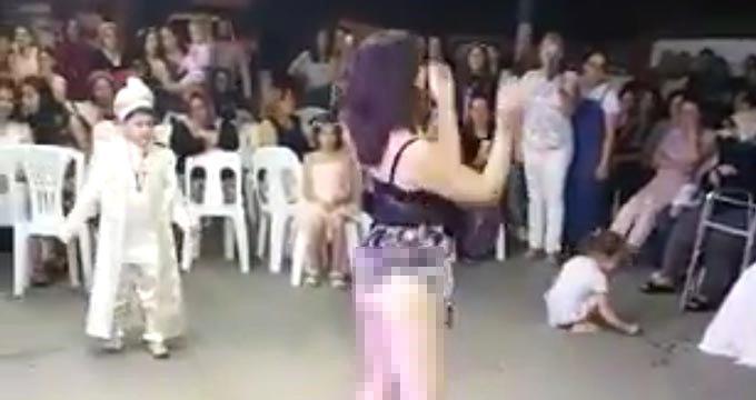 Skandal sünnet düğününe dava açıldı: Dansözler ve çocuğun ailesine 6 aydan 10 yıla kadar hapis isteniyor