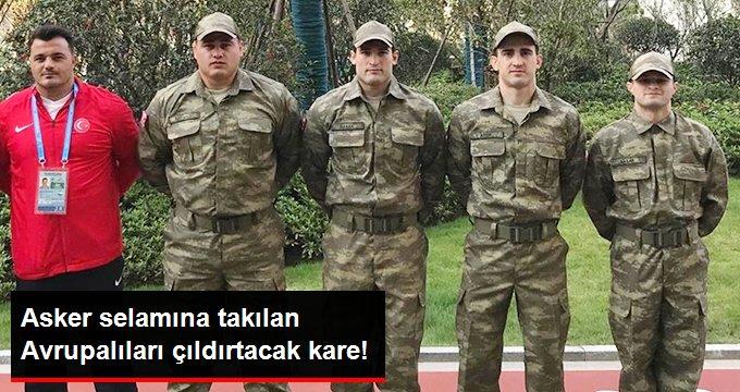 Asker selamına takılan Avrupalıları çıldırtacak kare!