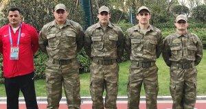 Askeri Olimpiyat Oyunları öncesi Rıza Kayaalp ve Taha Akgül kamuflaj giydi