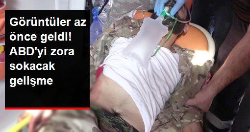 Keskin nişancı saldırısında yaralanan SMO askerleri kanlar içinde hastaneye kaldırıldı
