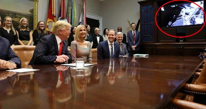 NASA'daki kadın astronotlardan bir ilk! Trump canlı yayınla bağlandı