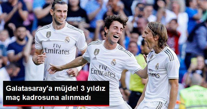 Galatasaraya müjde! 3 yıldız maç kadrosuna alınmadı