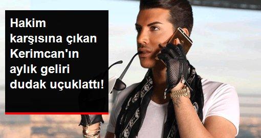 Şarkıcı Artoyu tehdit ettirdiği iddiasıyla hakim karşısına çıkan Kerimcan Durmazın aylık geliri dudak uçuklattı