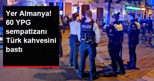 Almanya'da terör örgütü yandaşları Türk kahvesine saldırdı! Polis biber gazıyla müdahale etti