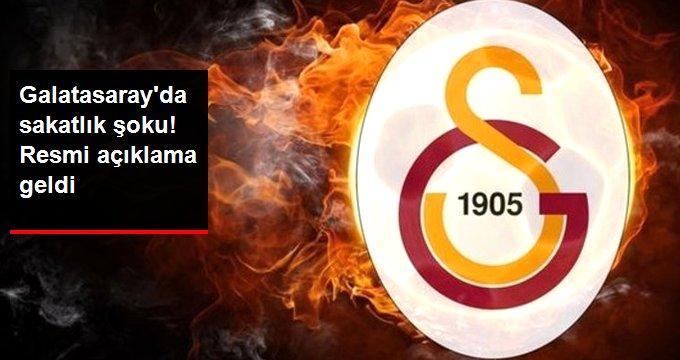 Galatasaray da sakatlık şoku! Resmi açıklama geldi