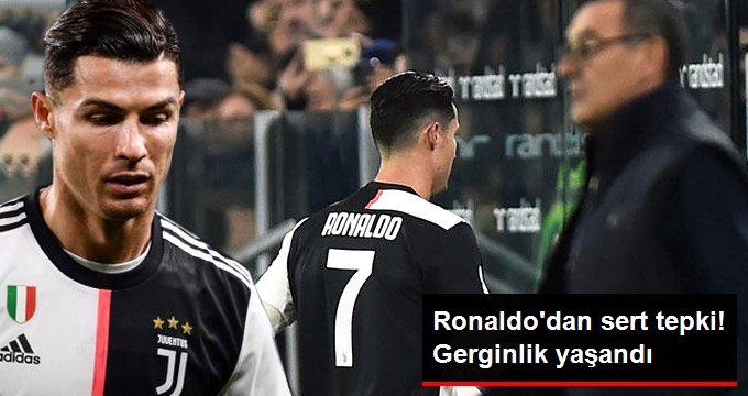Ronaldo dan sert tepki! Gerginlik yaşandı