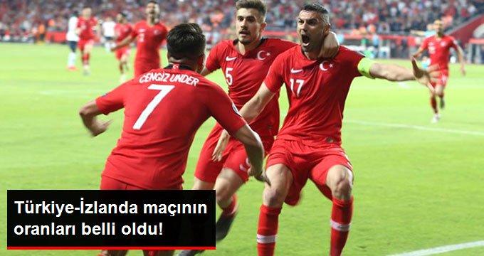 Türkiye-İzlanda maçının oranları belli oldu!