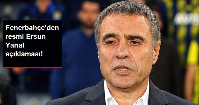 Fenerbahçe den resmi Ersun Yanal açıklaması!
