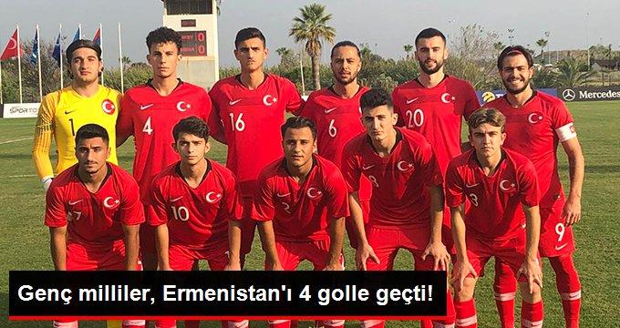 Genç milliler, Ermenistan ı 4 golle geçti!
