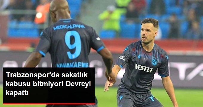 Trabzonsporda sakatlık kabusu bitmiyor! Devreyi kapattı