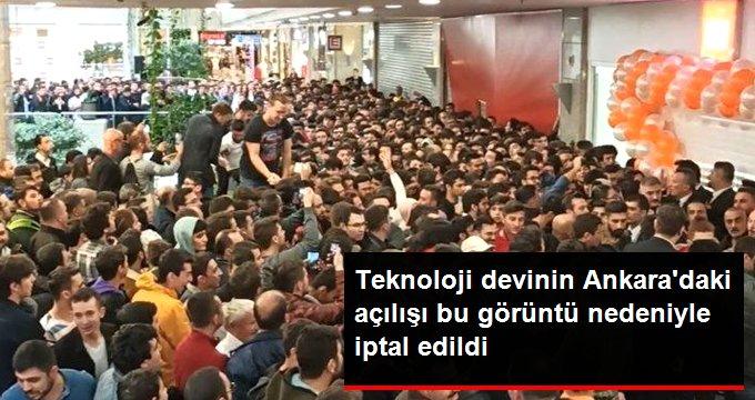 Ankaradaki Mi Store açılışı izdiham nedeniyle ertelendi