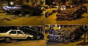 Polisten kaçan araç ortalığı savaş alanına çevirdi! 6 araç zarar gördü