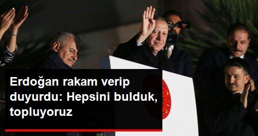 Cumhurbaşkanı Erdoğan: Terör örgütü YPG'ye verilen 33 bin TIR silahı bulduk, topluyoruz