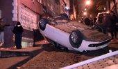 Güvenlik kameraları kayıttaydı! Sokak ortasında böyle takla attı