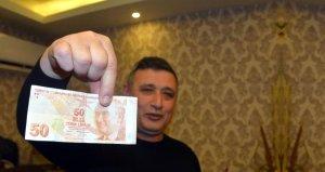 Kahramanmaraşlı esnaf 50 lirayı, 50 bin liraya satışa çıkardı
