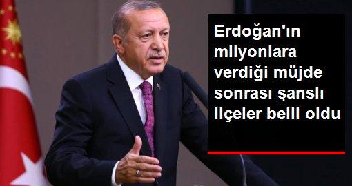 Erdoğan'ın müjdesini verdiği '100 Bin Sosyal Konut Projesi' kapsamında konut yapılacak ilçeler belli oldu