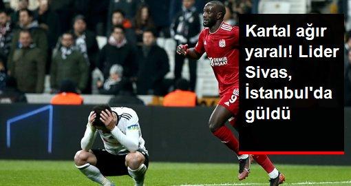 Beşiktaş, Vodafone Park'ta Sivasspor'a 2-1 mağlup oldu