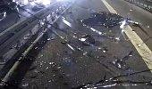 Şişli'de dehşet gecesi! Metrobüs kamerası anbean kaydetti