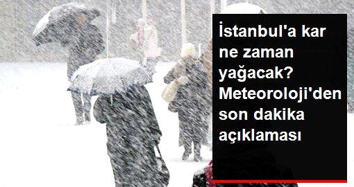 Meteoroloji, İstanbul'da bugün için karla karışık yağmur beklendiğini duyurdu