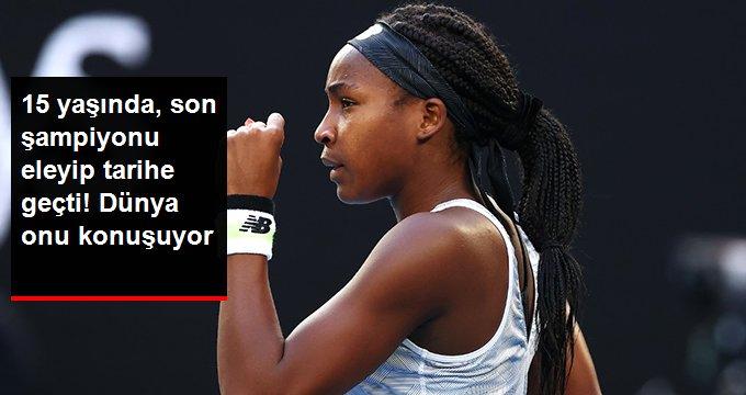 15 yaşında, son şampiyonu eleyip tarihe geçti! Dünya onu konuşuyor