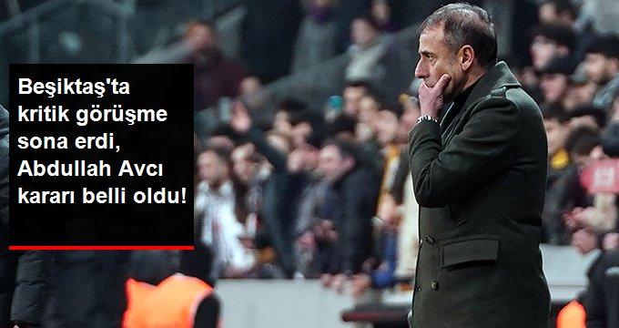 Beşiktaşta kritik görüşme sona erdi, Abdullah Avcı kararı belli oldu!