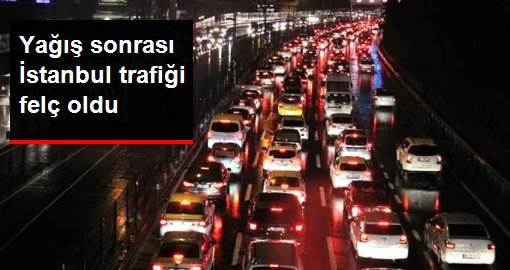 İstanbul'da trafik yoğunluğu yüzde 83'lere ulaştı
