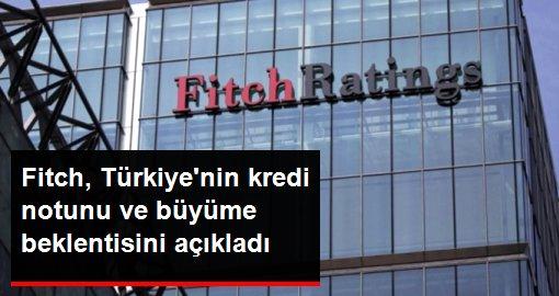 Fitch, Türkiye'nin kredi notunu ve büyüme beklentisini açıkladı