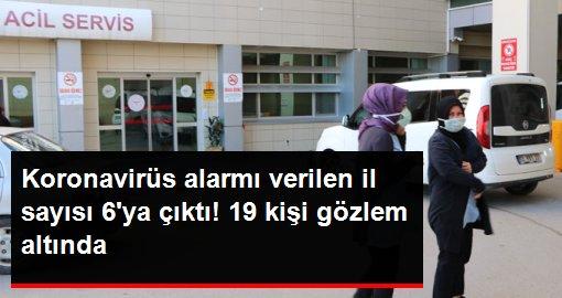 Zonguldak, Kastamonu, Ordu, Kütahya, Eskişehir ve Hatay'da koronavirüs alarmı verildi