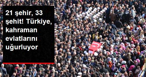 Türkiye, şehitlerini son yolculuğuna uğurluyor! Cenaze törenlerinde gözyaşları sel oldu