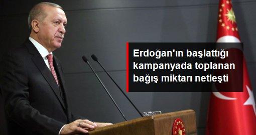 Erdoğan'ın başlattığı kampanyada toplanan bağış miktarı netleşti
