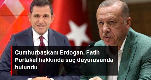 Cumhurbaşkanı Erdoğan, Fatih Portakal hakkında suç duyurusunda bulundu