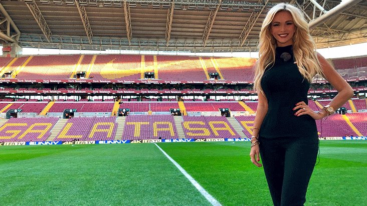 Galatasaraylı Rus güzel, huzuru yogada buldu