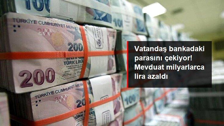 Bankacılık sektörünün mevduatı 7,1 milyar lira azaldı