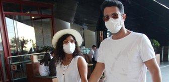 Ünlü şarkıcı Keremcem ve sevgilisi Gazal, AVM'de objektiflere yansıdı