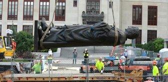 ABD'de ırkçılıkla suçlanan Kristof Kolomb'un heykeli kaldırıldı