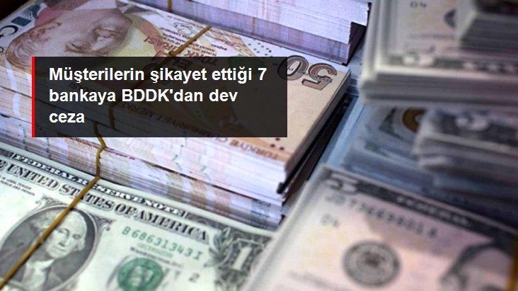 BDDK'dan 7 bankaya 204 milyon 651 bin TL idari para cezası
