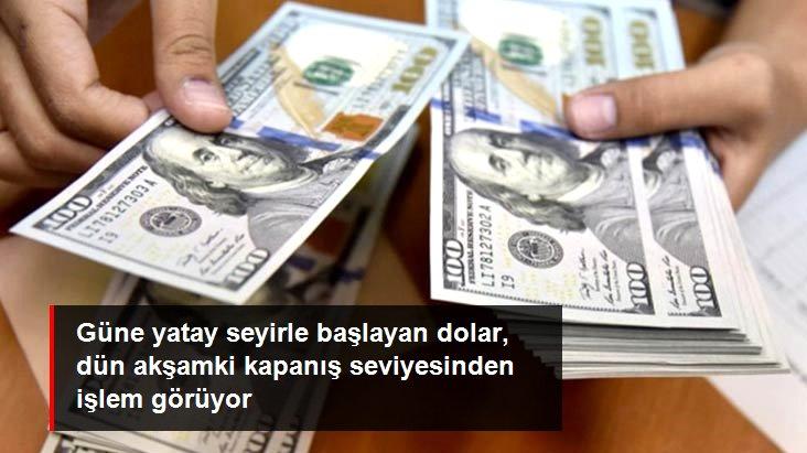 Yatay seyrine devam eden dolar, dün akşamki kapanış seviyesinde