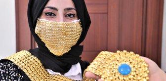 Gelinler için altın işlemeli maske üretildi! Fiyatı, düğün salonunun kirasından fazla