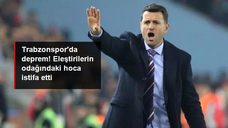 Trabzonspor Teknik Direktörü Hüseyin Çimşir, yönetime istifasını sundu