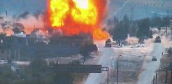 Türk-Rus ortak devriyesi esnasında bombalı saldırı! Patlama anı anbean kamerada