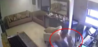 Lübnanlı babanın patlama anında oğlunu korumaya çalıştığı anlar kameraya böyle yansıdı