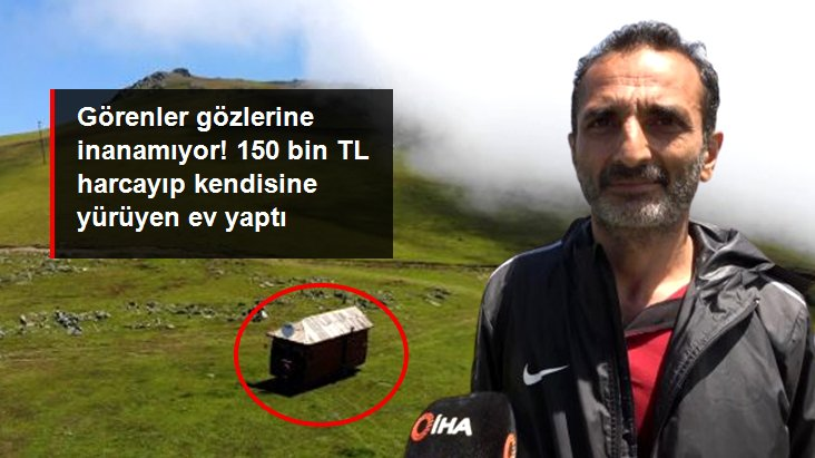 Trabzonlu vatandaş, 7 yıl önce aldığı minübüsü 150 bin TL harcayıp karavana çevirdi