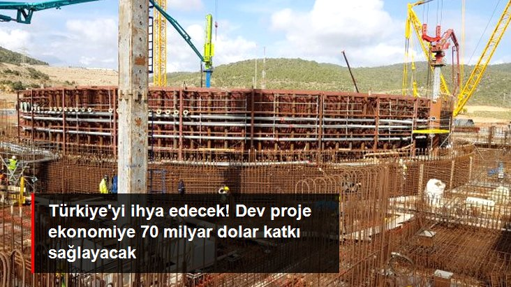 Akkuyu Nükleer Güç Santrali'nin Türkiye ekonomisine 70 milyar dolar vergi geliri sağlaması öngörülüyor
