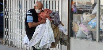 Karantinadan kaçan yaşlı adam, dükkanında yorgan dikerken yakalandı